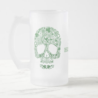 IRISH HOOLIGAN ST PARICK'S DAY FROSTED GLASS BEER MUG