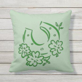 Irish Horseshoe Outdoor Pillow