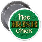 Irish Hot Chick (Round Button)