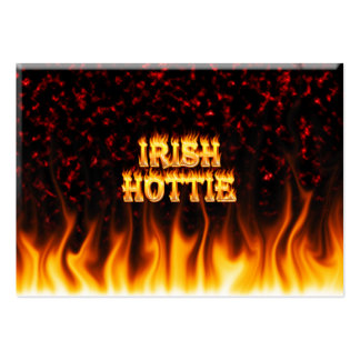 Irish hottie fire and flames Red marble Business Card Templates