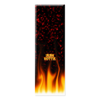Irish hottie fire and flames Red marble Business Card