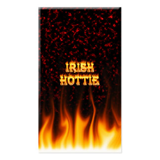 Irish hottie fire and flames Red marble Business Card Template