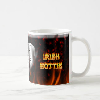 Irish hottie fire and flames Red marble Classic White Coffee Mug