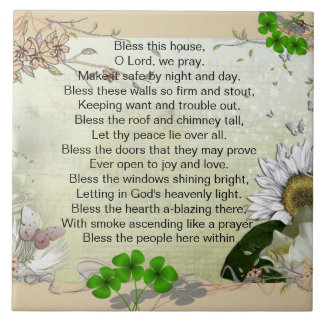 Irish House Blessing ceramic tile