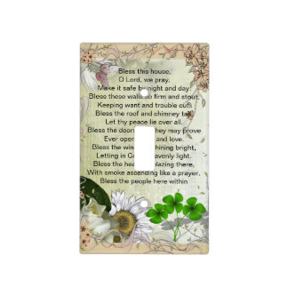 Irish House Blessing light switch cover