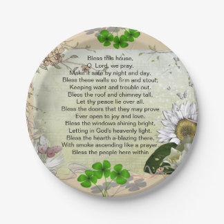 Irish House Blessing paper plate