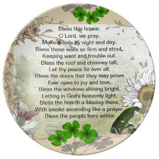 Irish House Blessing porcelain plate