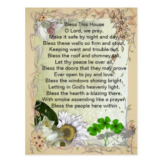 Irish House Blessing postcard