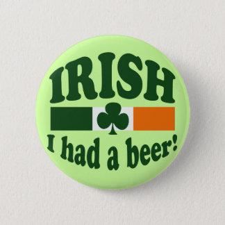 Irish I Had A Beer Button