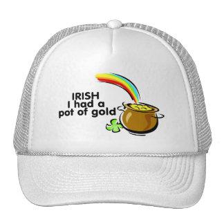 Irish I Had A Pot Of Gold Pot Of Gold Trucker Hat
