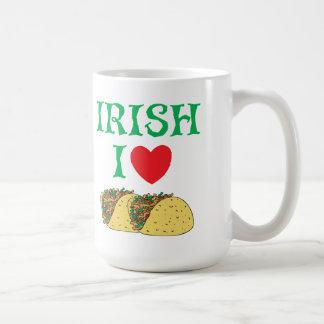 Irish I Love Tacos Classic White Coffee Mug