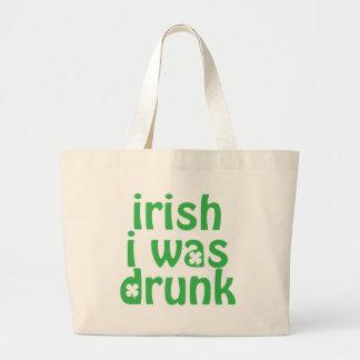 Irish I was Drunk Canvas Bags