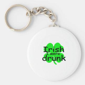 Irish I Were Drunk (Clover) Keychains