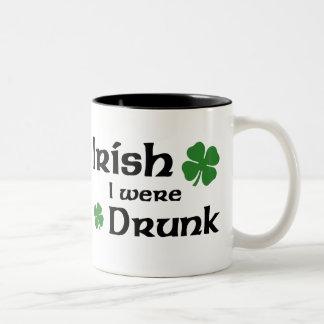 Irish I Were Drunk Two-Tone Coffee Mug