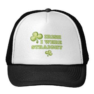 Irish I were straight Mesh Hats