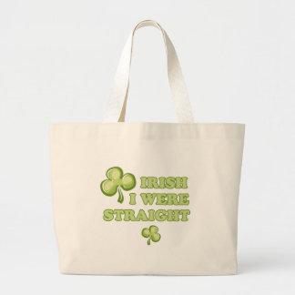 Irish I were straight Tote Bags