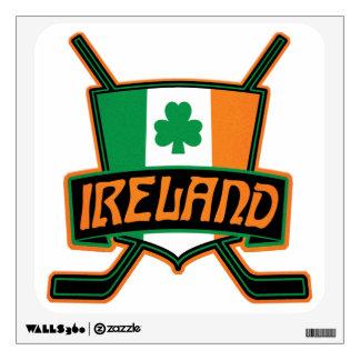 Irish Ice Hockey Flag Logo Wall Sticker