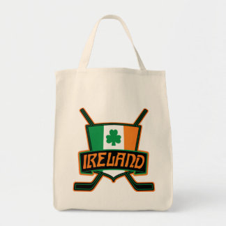 Irish Ice Hockey Flag Tote Bag