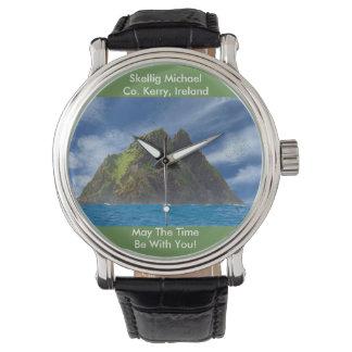 Irish image for Black Vintage Leather Wrist Watch