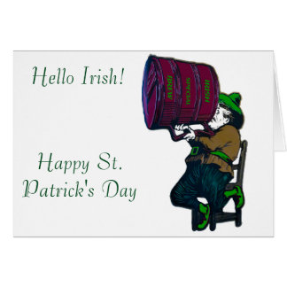 Irish image for greeting card