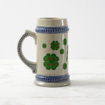 Irish, Ireland shamrock, clover Beer Stein