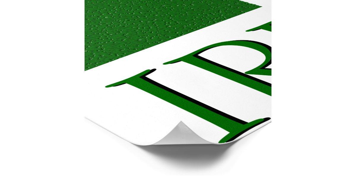 Irish Ireland Shamrock Flag Colors Poster   Zazzle