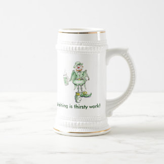 irish, Irishing is thirsty work! 18 Oz Beer Stein