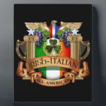 "Irish Italian all American Plaque<br><div class=""desc"">The best of both worlds,  the mixed heritage of Irish and Italian roots. The perfect All-American!</div>"