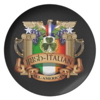 Irish Italian all American Party Plate