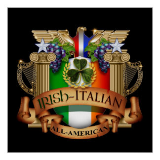 Irish Italian all American Poster