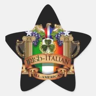 Irish Italian all American Star Sticker