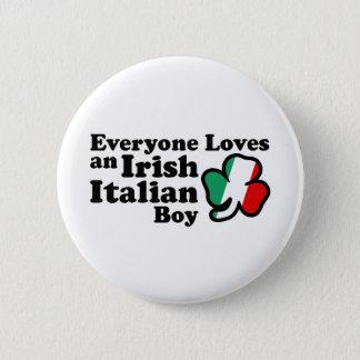 Irish Italian Boy Button