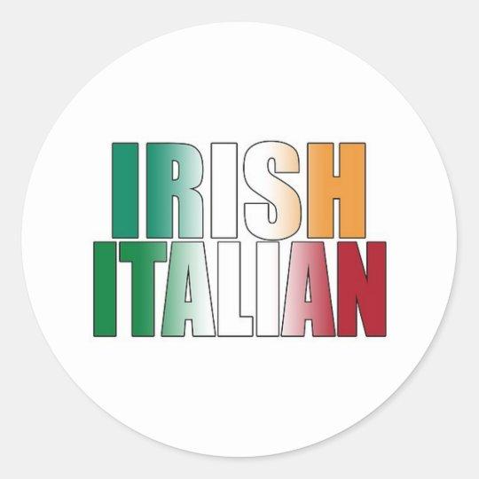 Irish Italian Classic Round Sticker