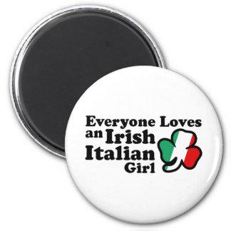 Irish Italian Girl 2 Inch Round Magnet