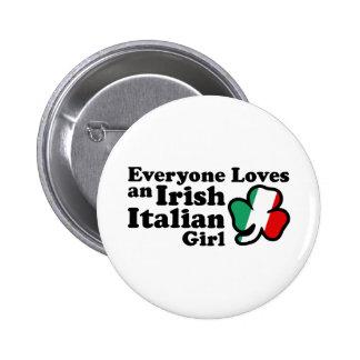 Irish Italian Girl Button