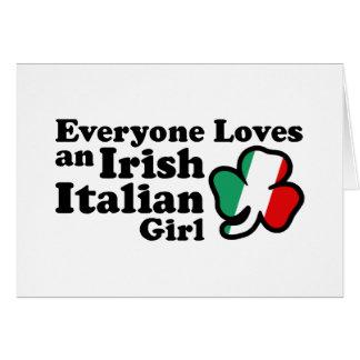 Irish Italian Girl Card
