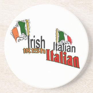 Irish Italian Heritage Sandstone Coaster