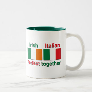 Irish Italian - Perfect Together! Two-Tone Coffee Mug