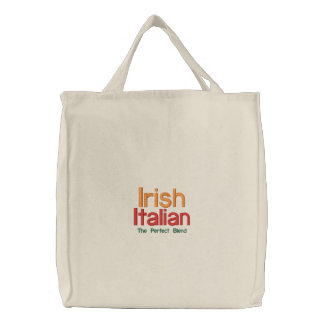 IRISH ITALIAN ST. PATRICK'S DAY EMBROIDERED TOTE BAG