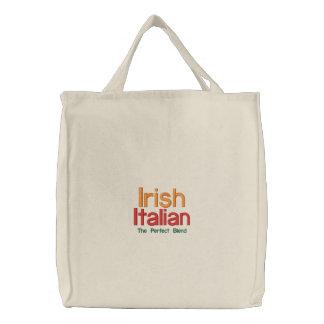 IRISH ITALIAN ST. PATRICK'S DAY EMBROIDERED TOTE BAG