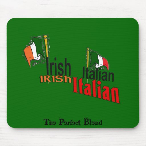 IRISH ITALIAN ST. PATRICK'S DAY MOUSE PAD