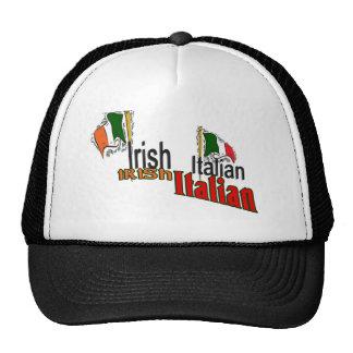 IRISH ITALIAN ST. PATRICK'S DAY TEMPLATE TRUCKER HAT