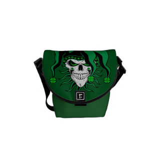 Irish Jester Skull Courier Bag