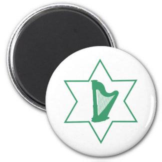 Irish & Jewish 2 Inch Round Magnet