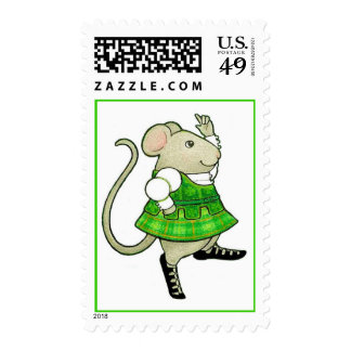 Irish Jig Mouse Small (1st Class, 1 oz) Stamps