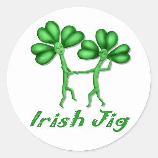 Irish Jig Round Stickers
