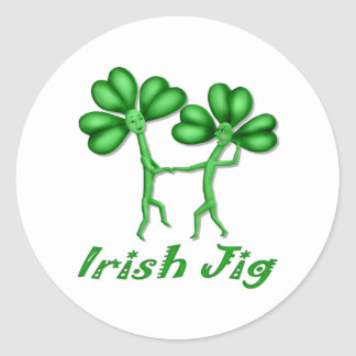 Irish Jig Round Sticker