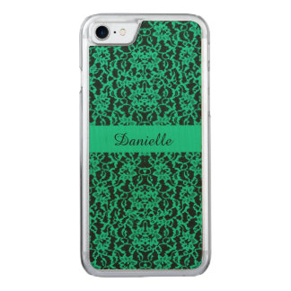 Irish Kelly Green Lace Carved iPhone 7 Case