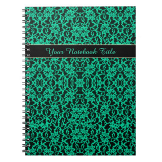 Irish Kelly Green Lace Notebook