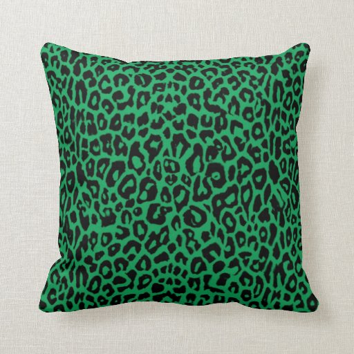 Irish Kelly Green Leopard Print Throw Pillow Zazzle
